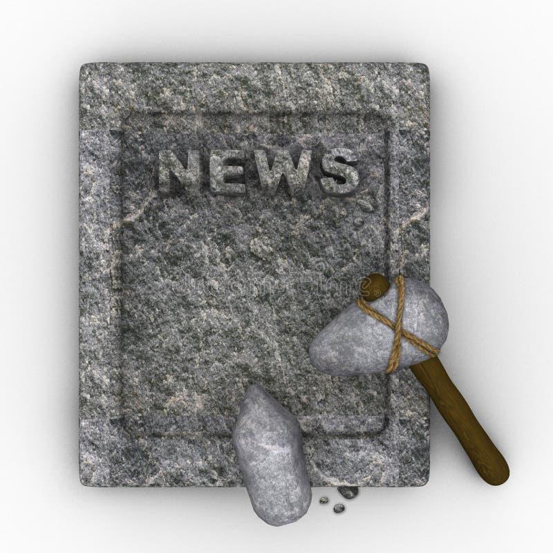 Steinzeitalterzeitung vektor abbildung