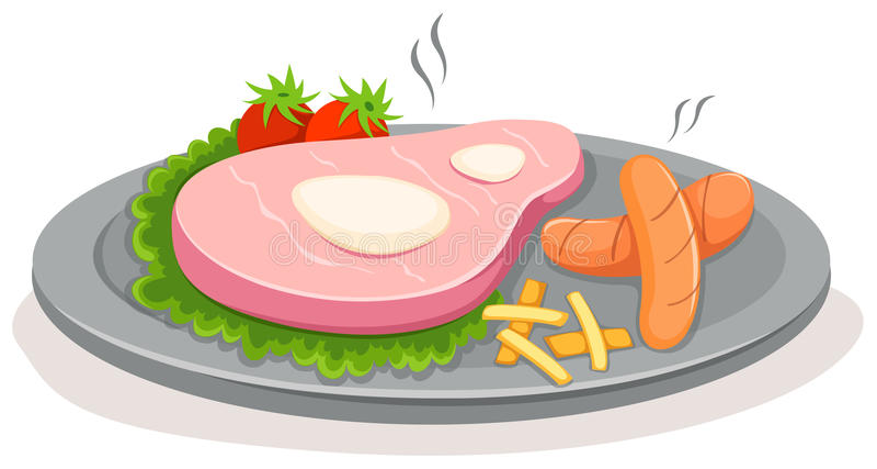 stek ilustracja wektor