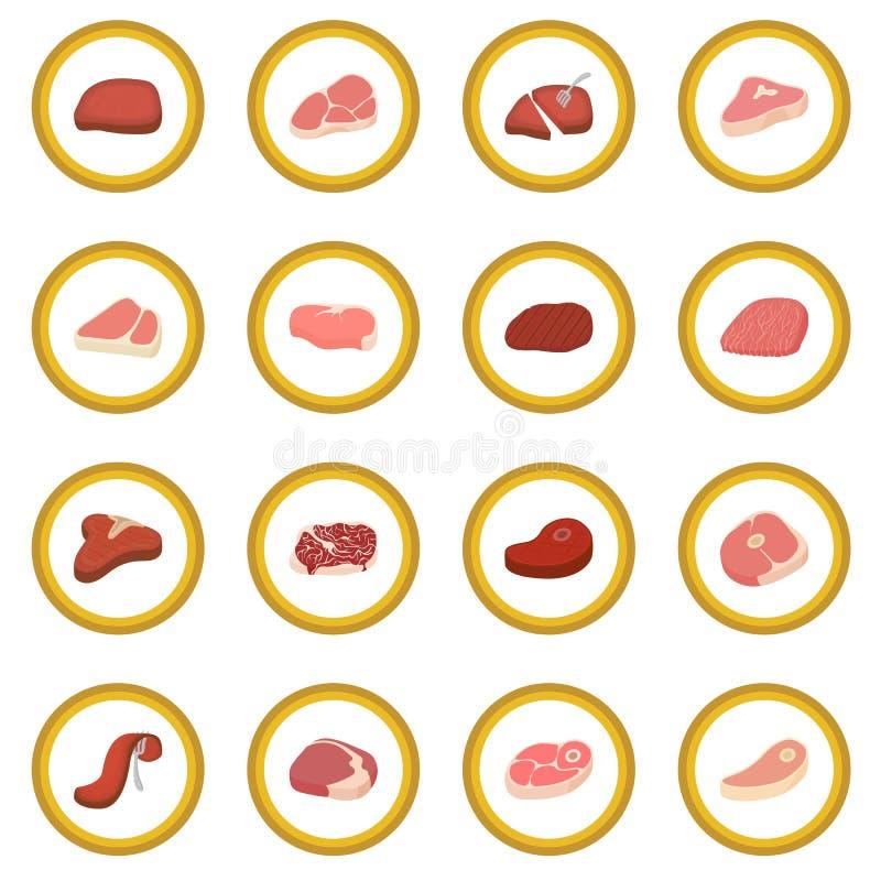 Stek ikony okrąg ilustracja wektor