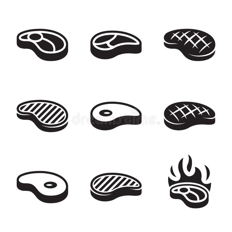 Stek ikony Ustawiać ilustracja wektor