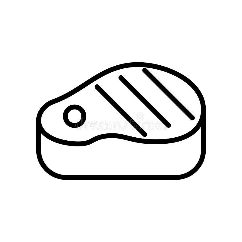Stek ikony wektor odizolowywający na białym tła, stku znaka, kreskowego lub liniowego znaku, elementu projekt w konturu stylu ilustracja wektor