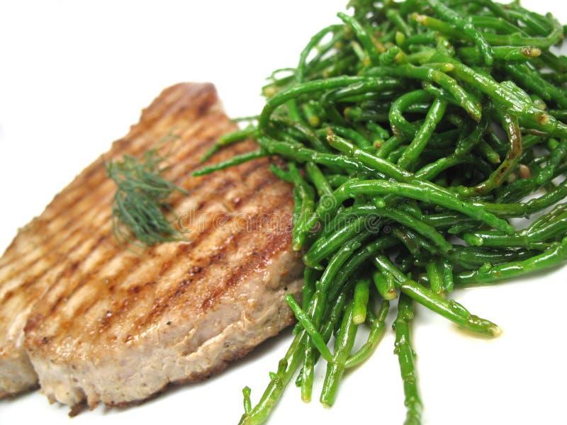 stek przechylający tuńczyk obraz stock