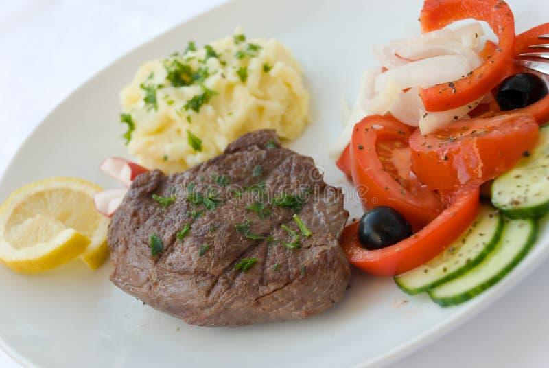 stek sałatkowy warzyw pośrednie obraz stock