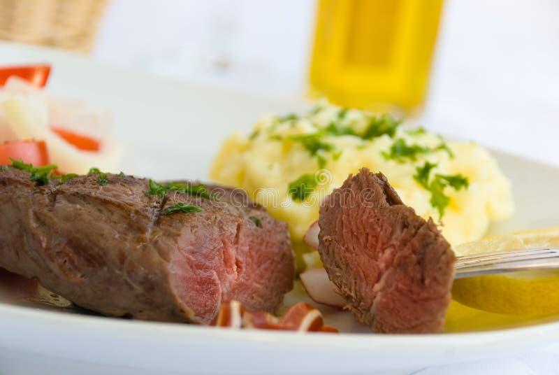 stek sałatkowy warzyw pośrednie obrazy stock