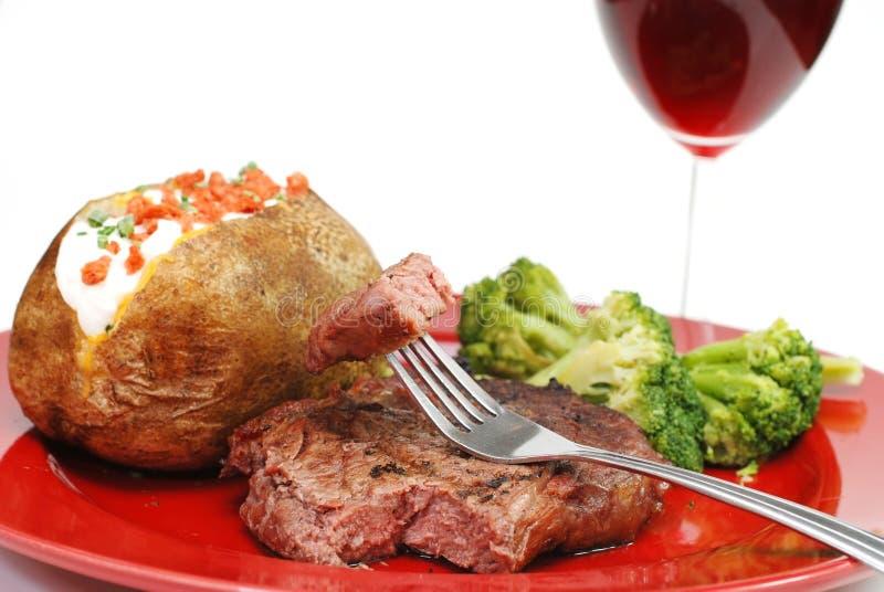 stek zbliżenie ziemniaka obrazy stock