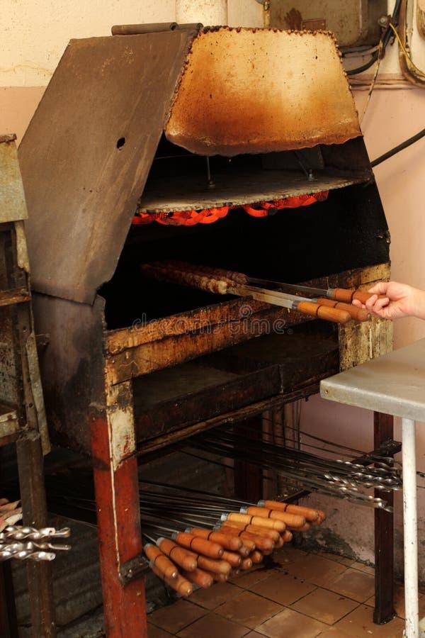steka kebab royaltyfria bilder