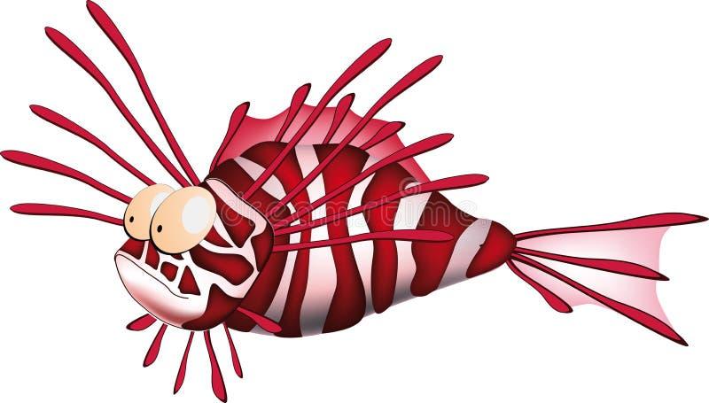 Stekelige koraal kleine vissen royalty-vrije illustratie