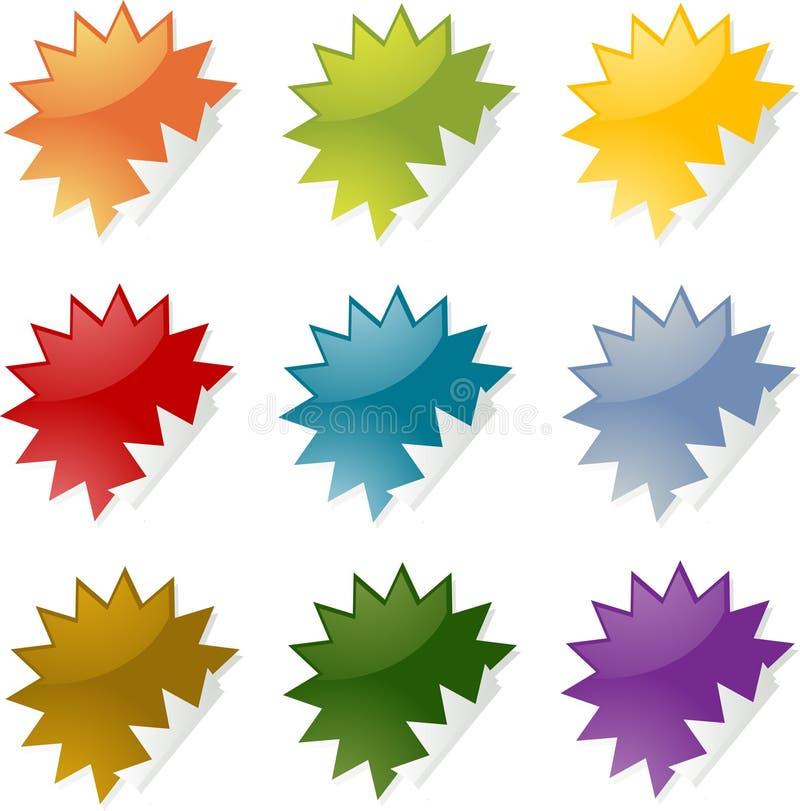 Stekelige stickers royalty-vrije illustratie
