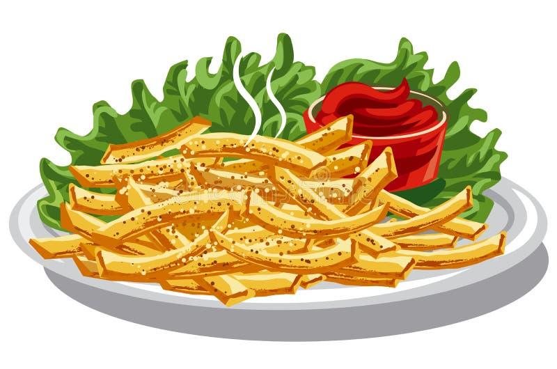 steker ketchup royaltyfri illustrationer