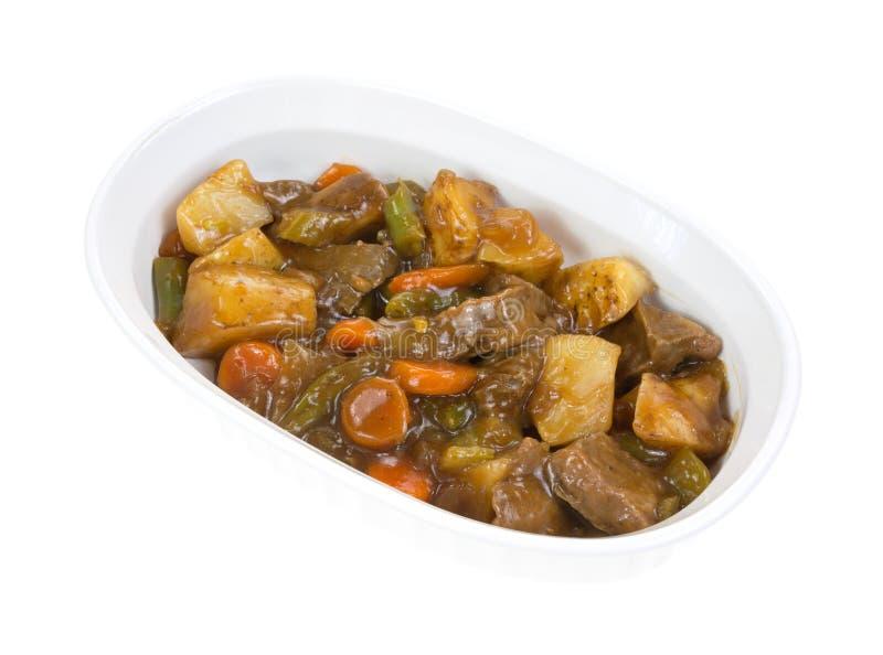 stekhet grillade grönsaker för nötkött maträtt arkivbilder