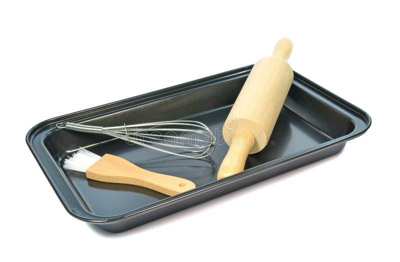 Stekheta utensils arkivfoton