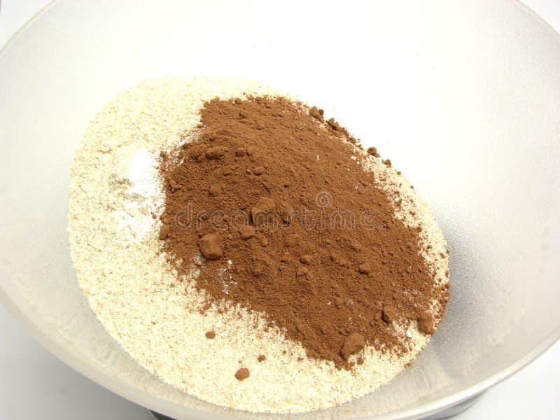 stekhett kakaomålpulver royaltyfri foto
