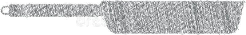 Stekpannaillustration, köksgeråd stock illustrationer