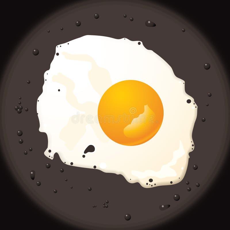 stekt ägg vektor illustrationer