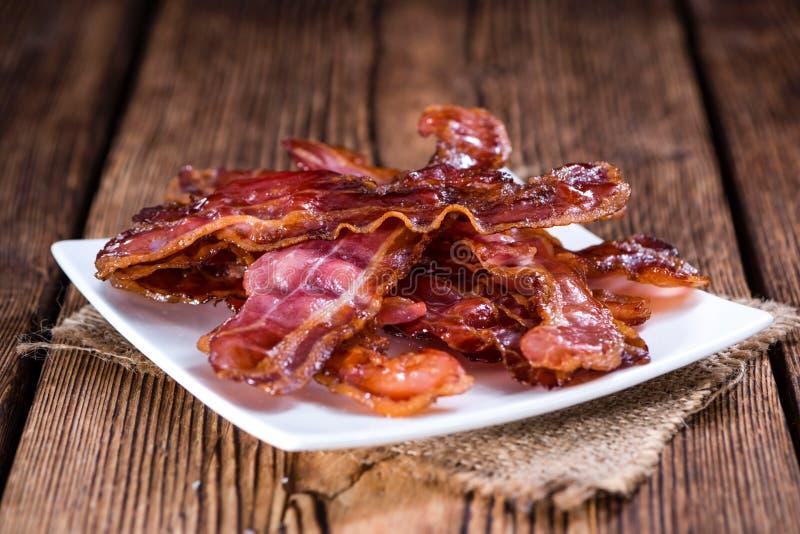 stekt bacon arkivfoto