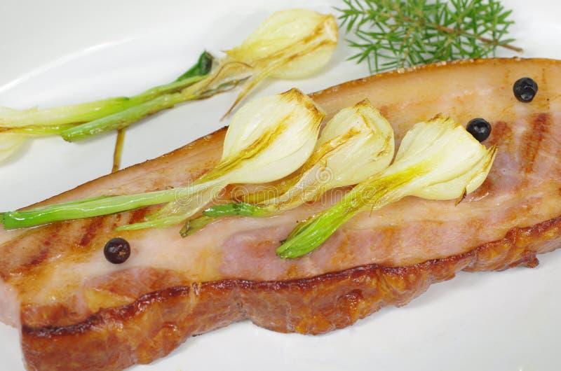 stekt bacon arkivfoton