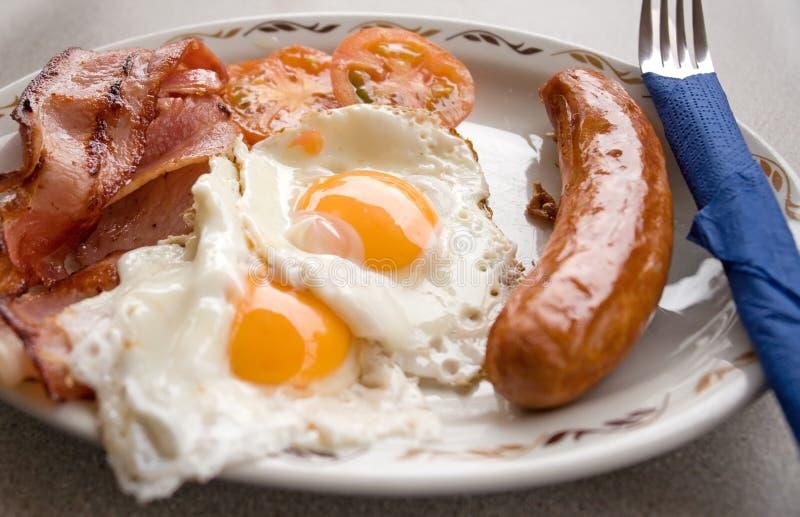 stekt frukost arkivfoton