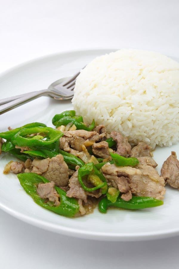 Download Stekt Grön Chili Med Thailändsk Och Kinesisk Mat För Pork, Fotografering för Bildbyråer - Bild av matlagning, kryddigt: 27280139