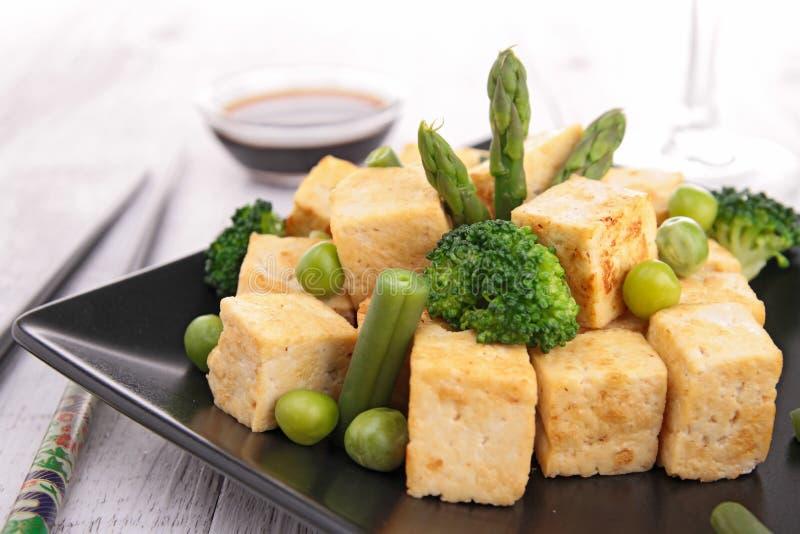 Stekt tofu royaltyfri fotografi