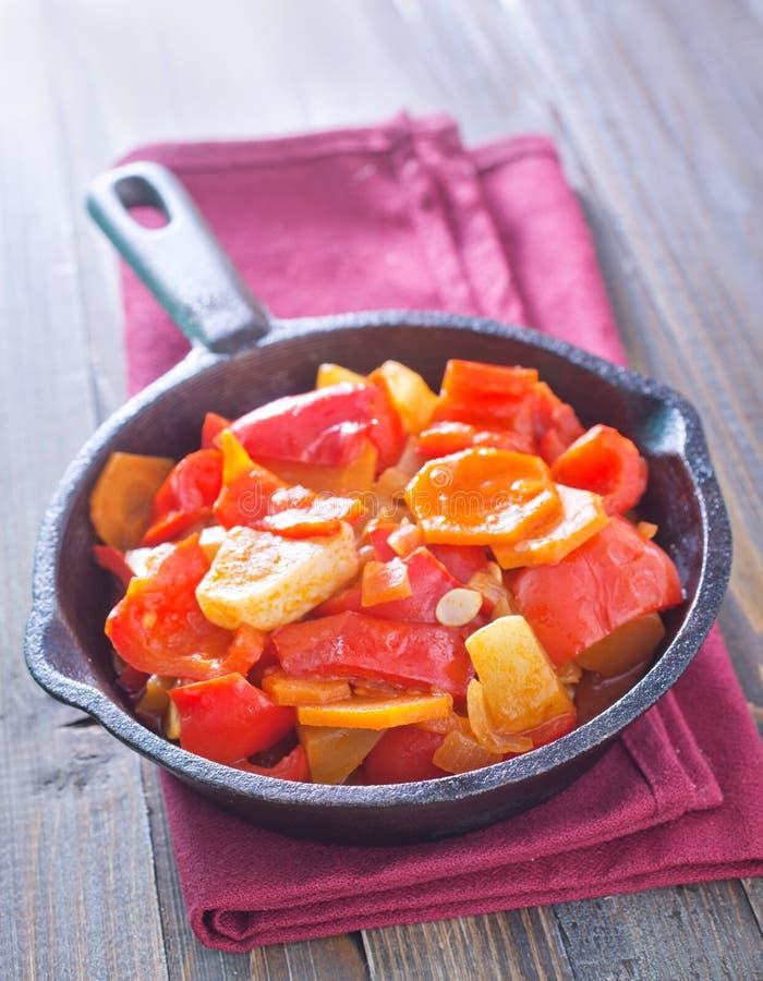 stekte grönsaker arkivfoto