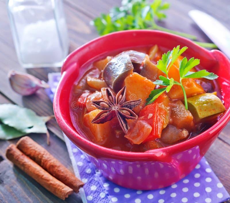 stekte grönsaker royaltyfri bild