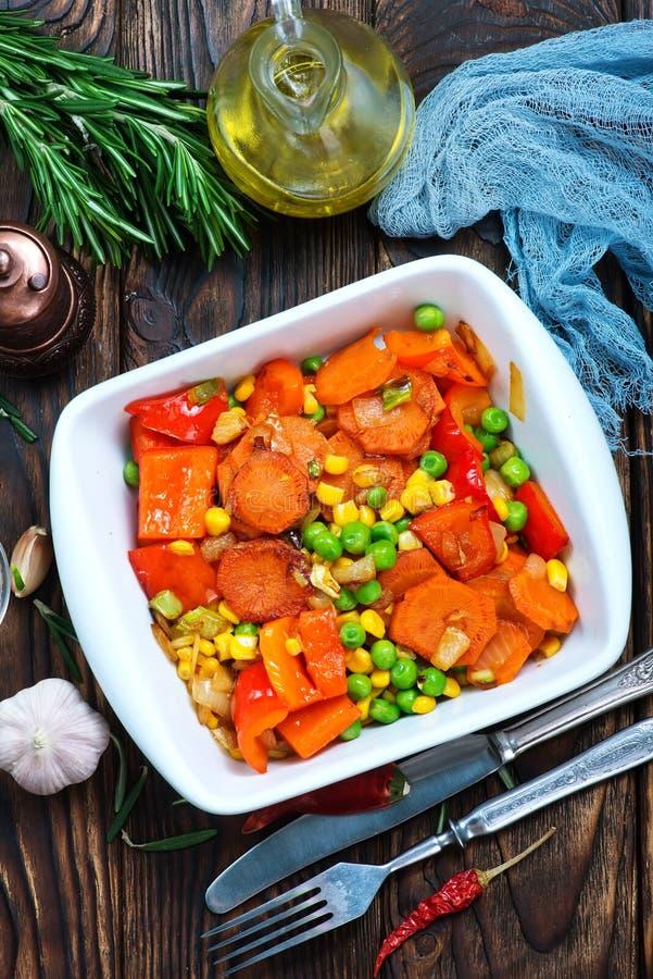 stekte grönsaker royaltyfria foton