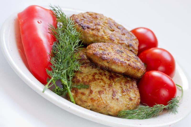 Download Stekte Meatballs Med Dill Och Tomater Arkivfoto - Bild av grillat, nytt: 27285448