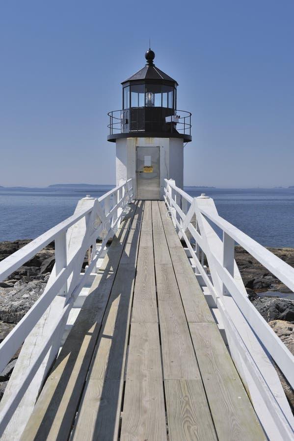 Stel de Haven Clyde Maine, de V.S. van de Vuurtoren van het Punt op royalty-vrije stock afbeelding