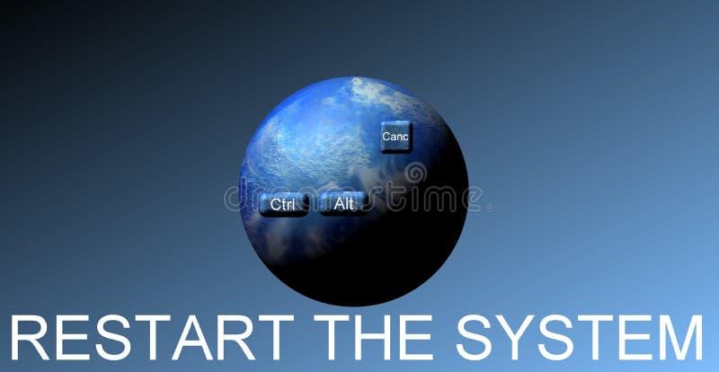 Stel de wereld terug vector illustratie