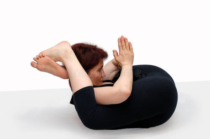 Stel in yoga royalty-vrije stock afbeelding