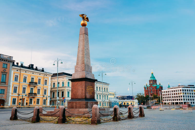 Stela Empress On Embankment In Helsinki bij de Zomer stock fotografie
