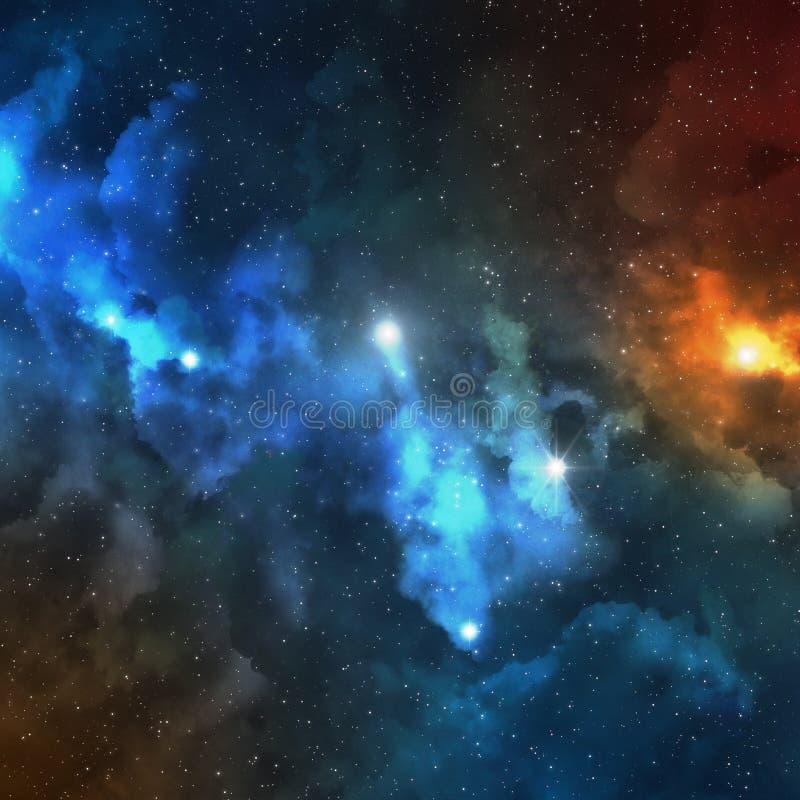 Stelarna przestrzeń i mgławica astronomia abstrakta tekstura - Astronautyczny pozaziemski tło - ilustracja wektor