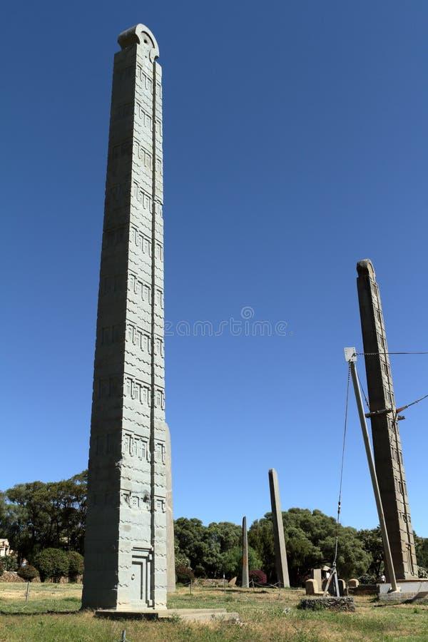Stele av Aksum i Etiopien royaltyfri foto