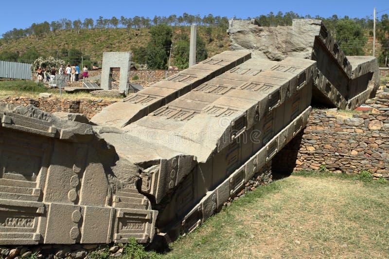 Stele di Aksum in Etiopia immagini stock libere da diritti