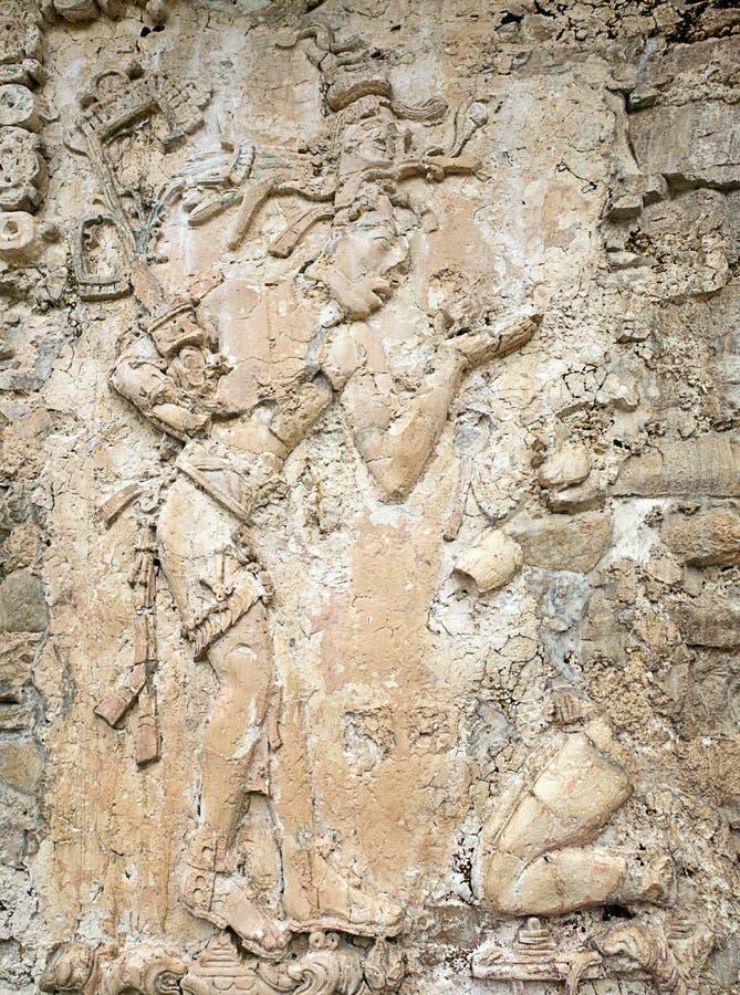 Stele in El Palacio Palenque. Chiapas Mexico stock photography