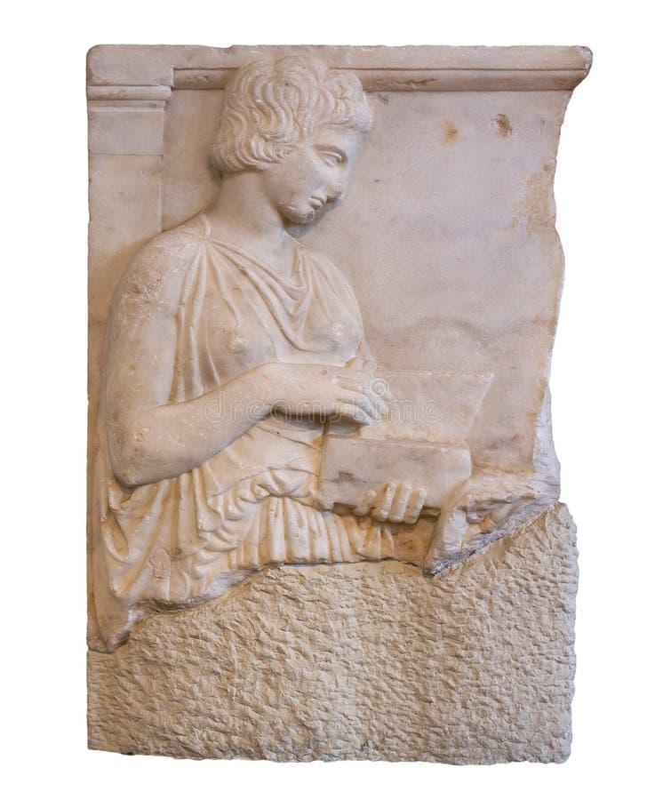 Stele grave do grego clássico (420 B.C) fotografia de stock royalty free