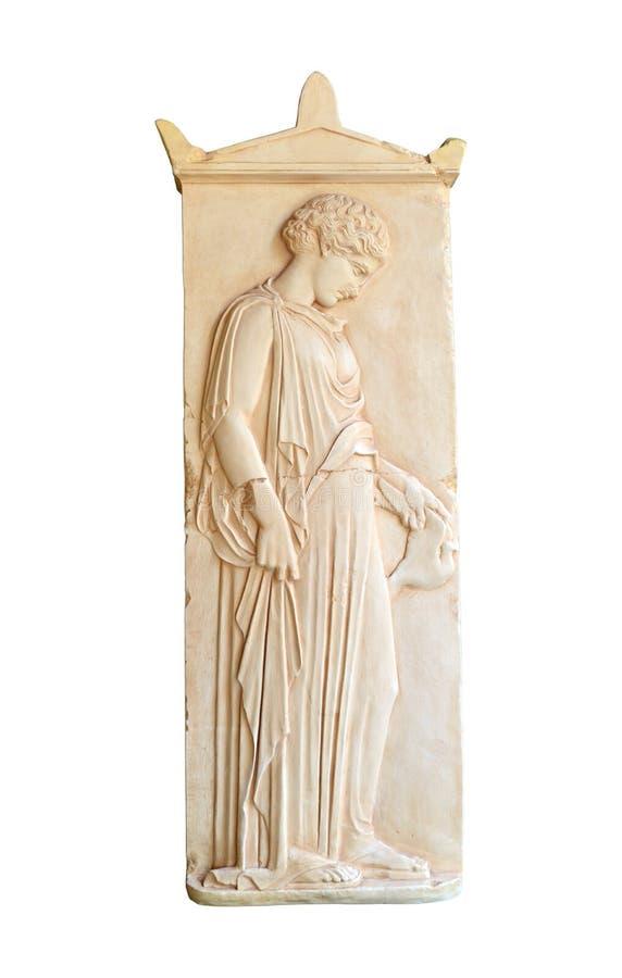 stele grave grego foto de stock royalty free