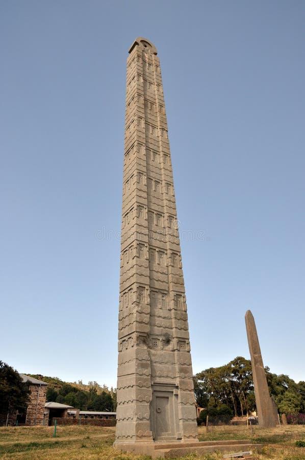 Stele på Axum i Etiopien royaltyfria foton