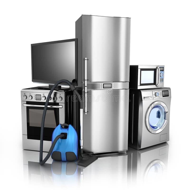 Stell de los productos electrónicos de consumo ilustración del vector