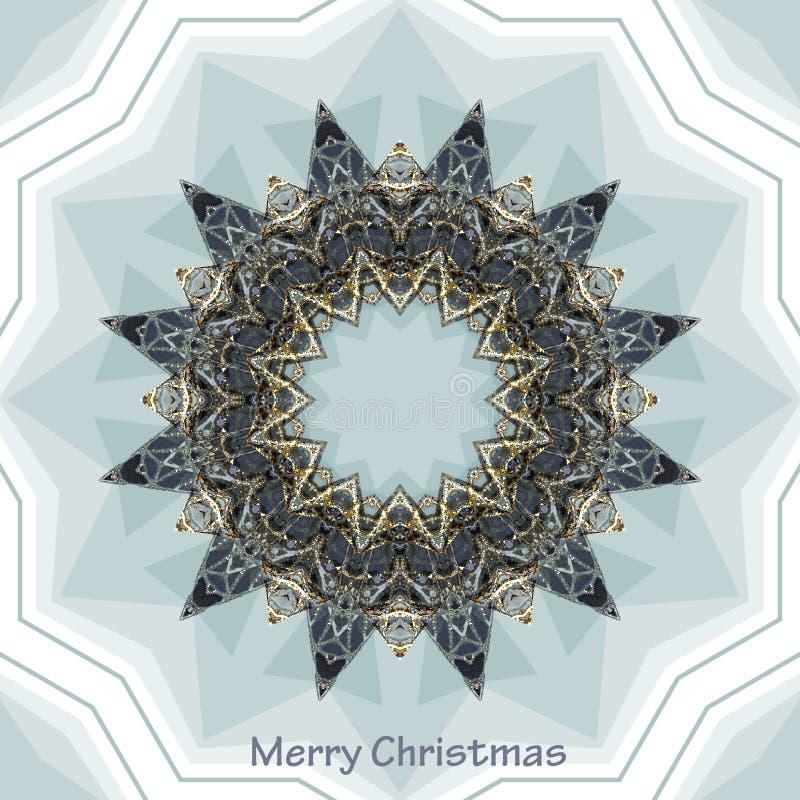 Stella argentea sulla cartolina di Natale illustrazione vettoriale