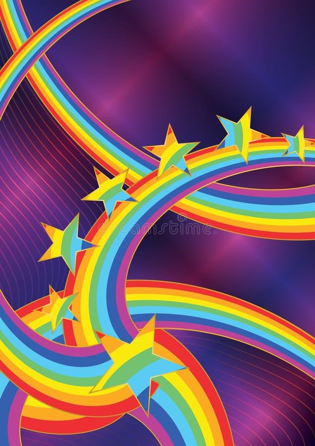 Stella astratta del Rainbow royalty illustrazione gratis