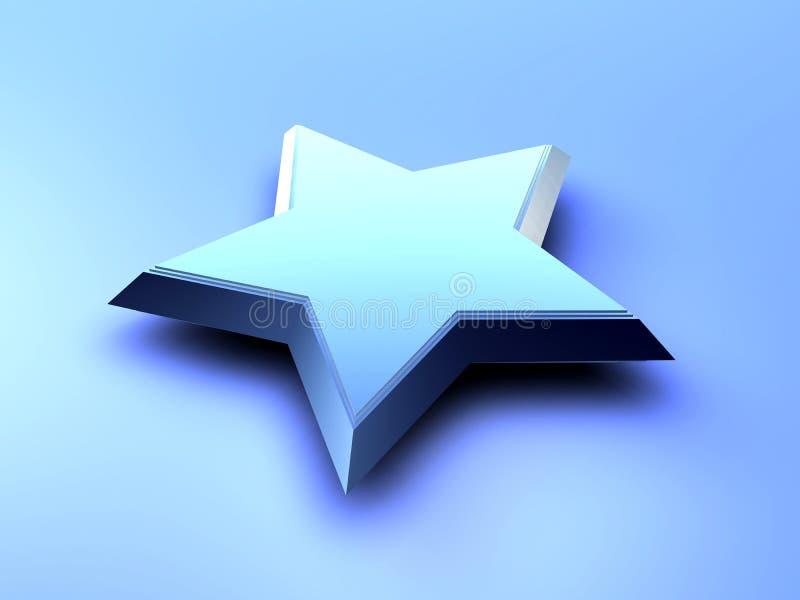 Stella blu illustrazione vettoriale