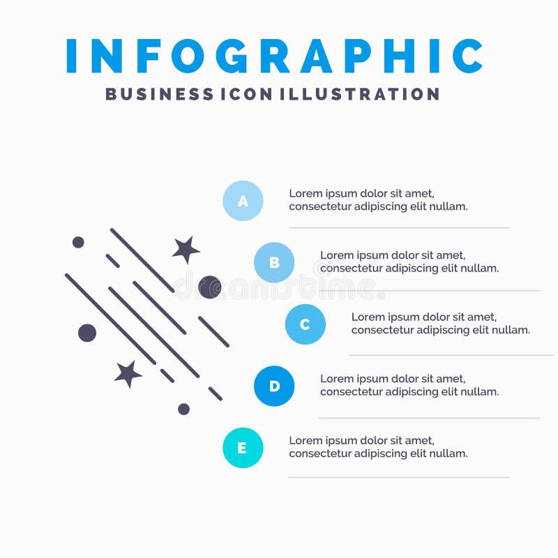 stella, stella cadente, cadere, spazio, modello di Infographics delle stelle per il sito Web e presentazione Icona grigia di glif royalty illustrazione gratis