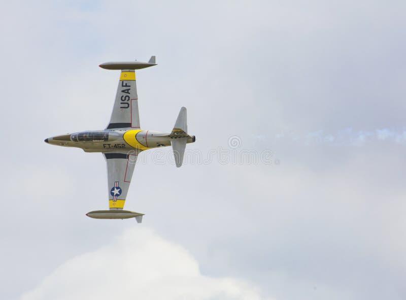 Stella cadente di Lockheed T-33 fotografie stock libere da diritti