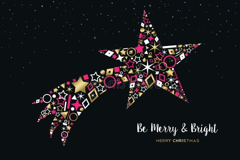 Stella Cadente Di Natale.Stella Cadente Di Natale Fatta Dell Insieme Dell Icona Dell Oro Illustrazione Vettoriale Illustrazione Di Natale Moderno 122138156