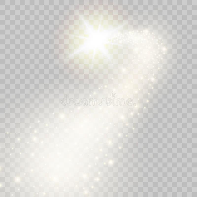 Stella cadente dorata scintillare di vettore Illustrazione di vettore illustrazione di stock