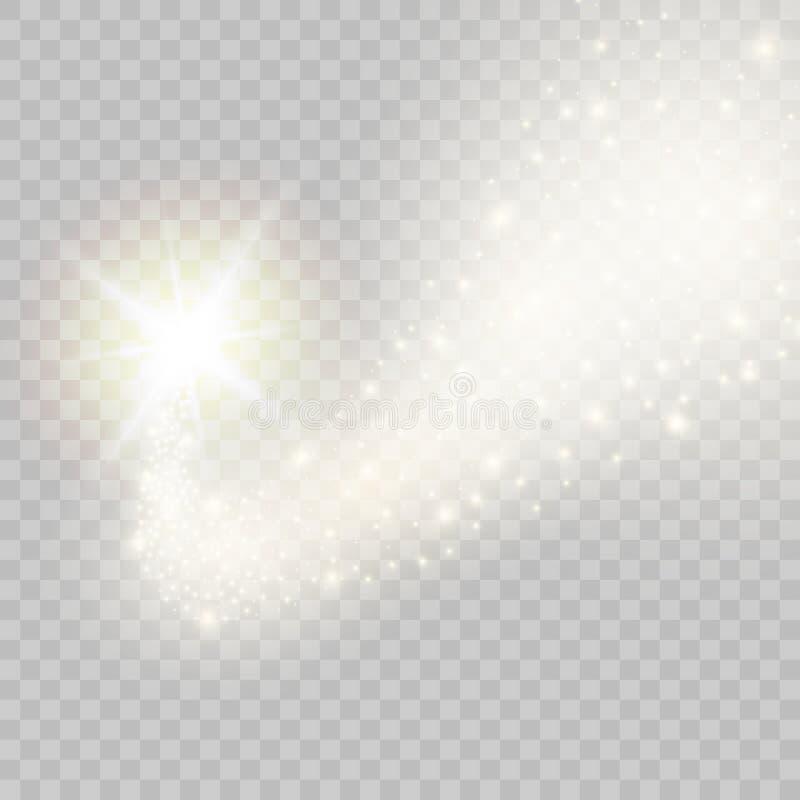 Stella cadente dorata scintillare di vettore Illustrazione di vettore illustrazione vettoriale