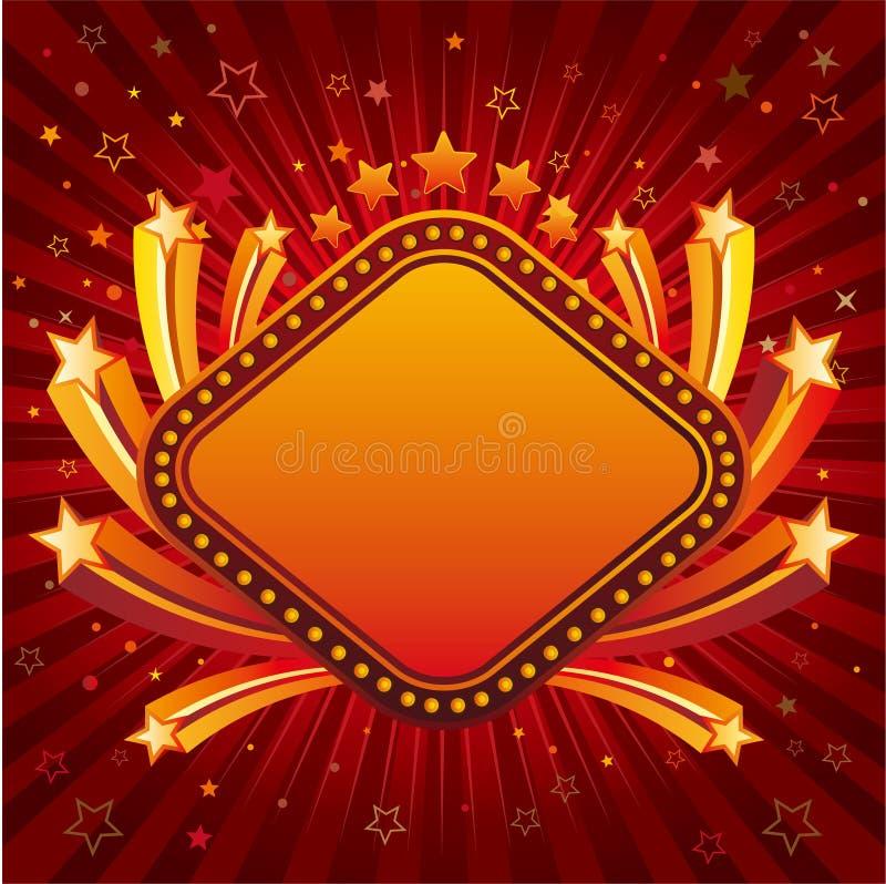 stella con il bordo del segno al neon royalty illustrazione gratis