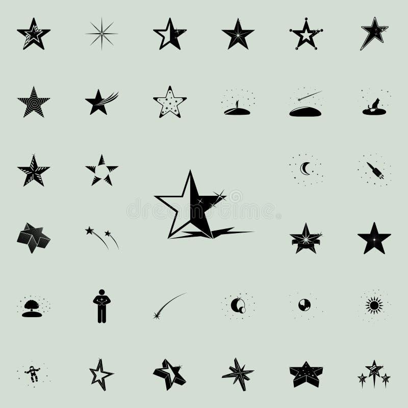 stella con l'icona dell'ombra Insieme universale delle icone delle stelle per il web ed il cellulare royalty illustrazione gratis