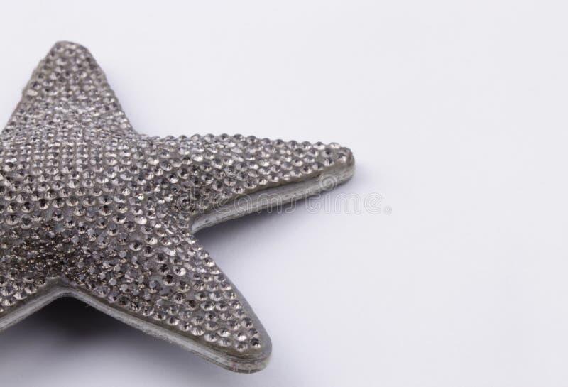 Stella d'argento del cristallo di rocca immagini stock libere da diritti